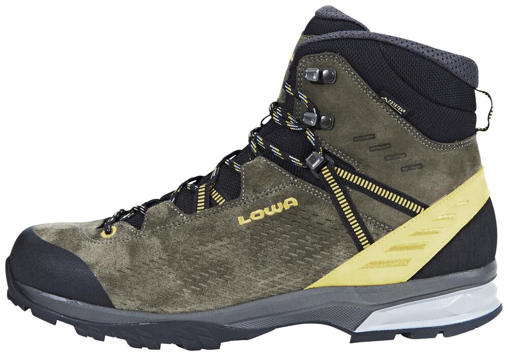 Chaussure Lowa Arco Gore-tex Milieu Pour Les Hommes - Gris Foncé 6OkPSp